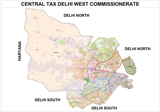delhi west -map